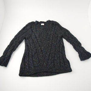 Cherokee Black Sweater with Metallic Sparkle